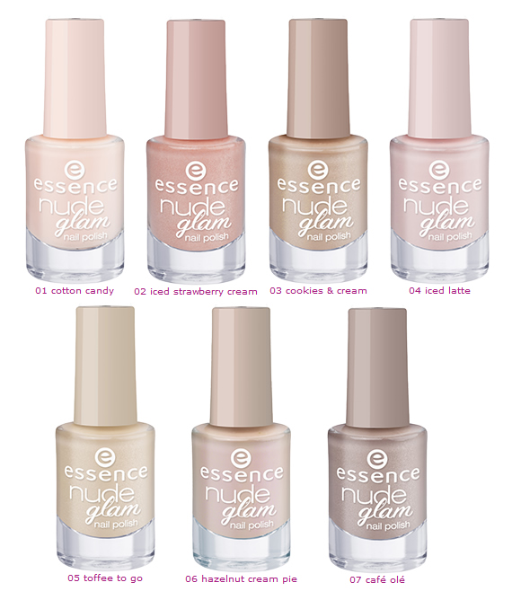 Colección Essence Nude Glam, swatches