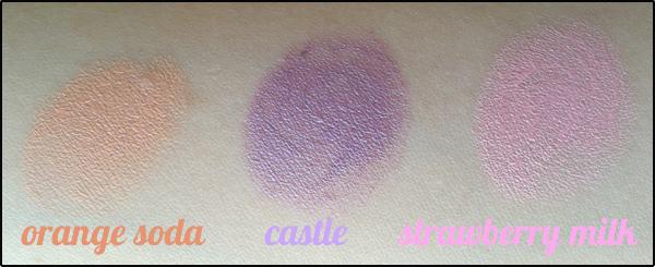 NYX Round Lipstick en Orange Soda, Castle y Strawberry Milk